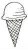 Eis Malvorlage - Ausmalbild Eis in Eiswaffel zum Ausdrucken