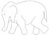 Elefantenmalvorlage - lustiger Elefant zum Ausmalen
