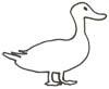 Ente Malvorlage, Ausmalbild - kostenlos zum Ausdrucken