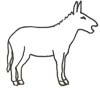 Esel Malvorlage, Ausmalbild - Esel zum Ausmalen