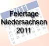 Feiertage 2011 Niedersachsen - freie Tage
