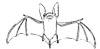 Fledermaus Ausmalbild - Fledermaus malen