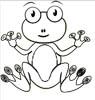 Frosch Malvorlage - Ausmalbild lustiger Frosch