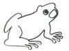 Frosch Ausmalbild - gratis Malvorlage zum Drucken