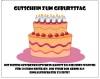 Gutschein Vorlage zum Geburtstag 50 Euro als Geschenk