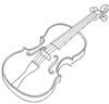 Geige Malvorlage - kostenlose Bild zum Ausmalen