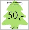 Gutschein zu Weihnachten über 50 Euro  von Oma - Gutscheinvorlage