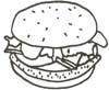 Hamburger Malvorlage - Burger Ausmalbild zum Ausdrucken