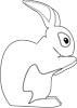 Hase zum Ausmalen - Hasenmalvorlage für Kinder