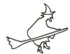 Hexe Malvorlage - Ausmalbild Hexe auf ihrem Besen