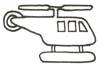 Hubschrauber Malvorlage - Helikopter Ausmalbild