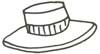 Hut Malvorlage - Malbild für Kinder - Kopfbedeckung