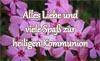 Karte zur heiligen Kommunion als Postkarte, Email, Bild