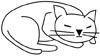 Schlafende Katze Ausmalbild - Katzenmalvorlage