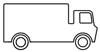 Malbild Lastwagen - Malvorlage für Kinder