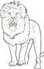 Löwe zum Ausmalen - Löwenmalvorlage für Kinder