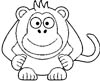 Lustiger Affe Malvorlage - witziges Ausmalbild