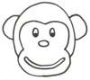 Malvorlage Affe - Affen Ausmalbild zum Ausdrucken