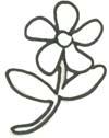 Blume zum Ausmalen - kostenlose Malvorlage