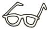 Malvorlage Brille - Bild zum Ausmalen