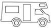 Malvorlage Wohnmobil - Camping Wagen Ausmalbild