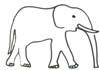 Elefant Malvorlage - kostenlose Ausmalbilder