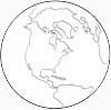 Erde Malvorlage - Ausmalbild Globus, Erdkugel