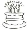 Malvorlage Geburtstag Torte - Geburtstagstorte Ausmalbild