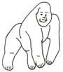 Malvorlage Gorilla - Affe Ausmalbild