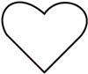 Malvorlage viele schöne Herzen - zur Kette aufgereiht