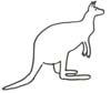 Känguruh Malvorlage - Ausmalbild
