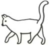Vorlage Katze zum Malen - Katzenmalbild