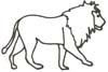 Malvorlage Löwe - Ausmalbild zum Ausdrucken