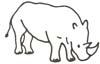 Malvorlage Nashorn - Nashornbild zum Ausmalen