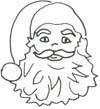 Malvorlage Nikolaus - kostenloses Ausmalbild