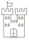 Malvorlage Schloss einer Königin zum Ausdrucken