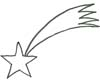 Malvorlage Stern - Sternschnuppe Ausmalbild zu Weihnachten