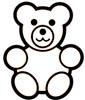 Teddy Malvorlage - Ausmalbild Teddybär