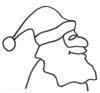 Malvorlage Weihnachtsmann - Ausmalbild zum Ausmalen