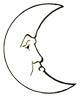 Mond Ausmalbild - Mondmalvorlage