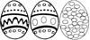 Ostereier Malvorlage - Ausmalbild mit Ostereiern zu Ostern
