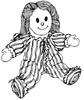 Puppe Malvorlage - Süße Puppe zum Ausmalen