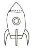 Rakete Malvorlage - Raketen Ausmalbild zum Ausmalen