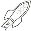 Raumschiff Malvorlage - Space Ausmalbild zum Ausdrucken
