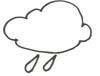 Regenwolke Malvorlage - Wolkenausmalbild mit Regen
