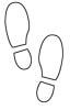 Schuhsohle Malvorlage - Schuabdruck, Fußspuren Malvorlage
