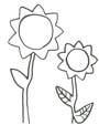 Sonnenblumen Ausmalbild - gratis Malvorlage