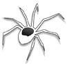 Spinne Ausmalbild kostenlos - Spinnen malen