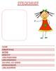 Steckbrief Vorlage für Mädchen zum Ausdrucken