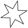 Sternausmalbild - Ausmalbild Stern kostenlos